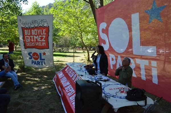 Sol Parti Amasya İl Örgütü Boraboy'da  Türküler eşliğiyle