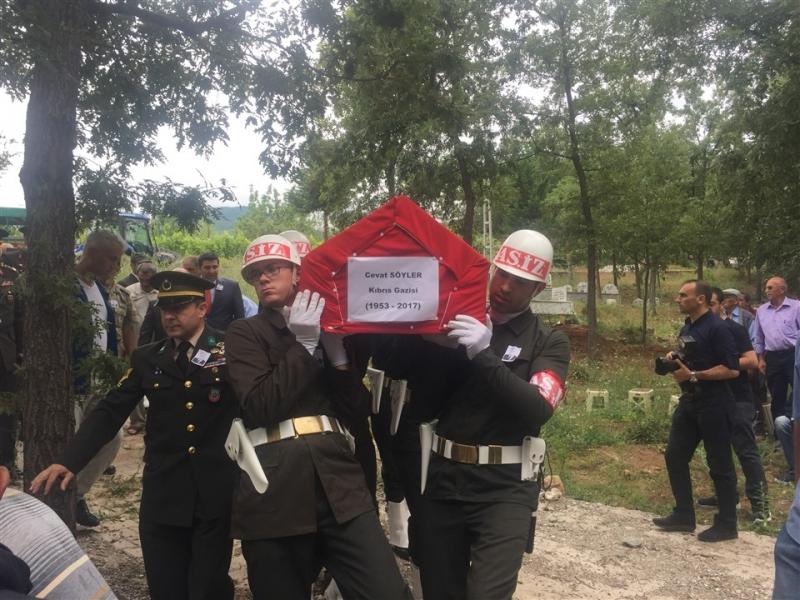 Kıbrıs gazisi Söyler, Ballıca'da toprağa verildi