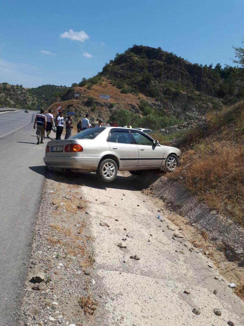Boraboy kavşağında kaza
