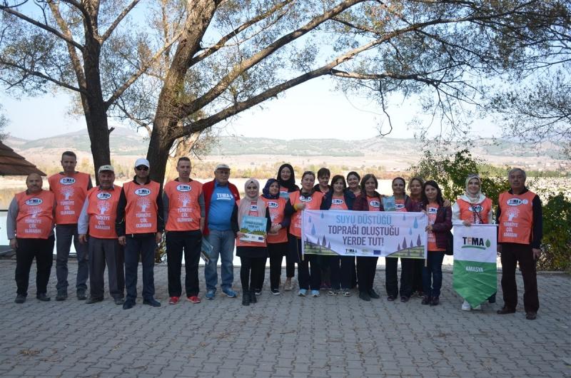 Amasya TEMA'dan Uluköy Barajında Doğa Yürüyüşü