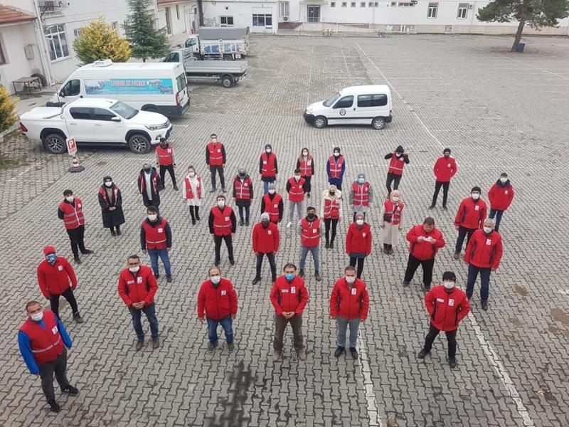 Amasya Kızılay; 'Çaylar Sizden Simitler Kızılay'dan'