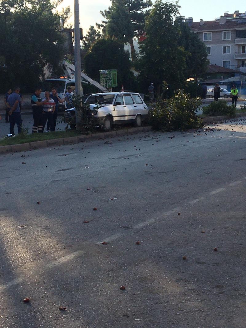 İlçemizde Pancar Dairesi Karşısında Kaza