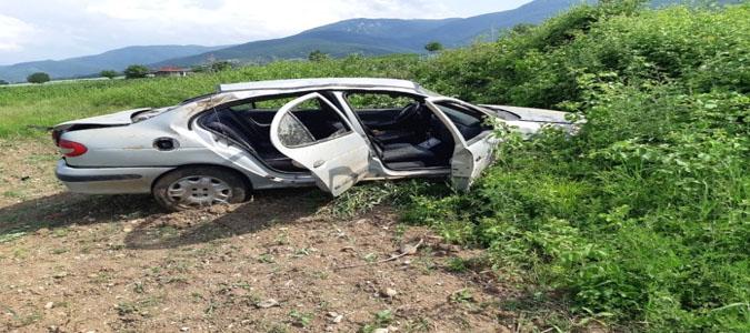 15 yaşındaki sürücü kaza yaptı.