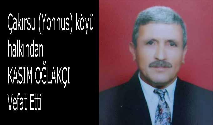 Emekli PTT personeli Kasım Oğlakçı (74) Vefatı