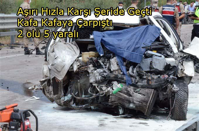 Tasova Erbaa yolunda feci kaza: 2 ölü 5 yarali