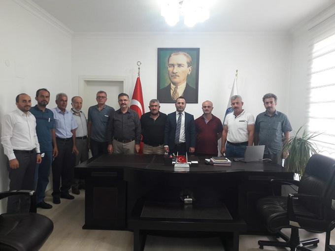 İlçemizde Faaliyet Gösteren Derneklerden Kaymakamımız Mustafa Berk Çelik'e Ziyaret