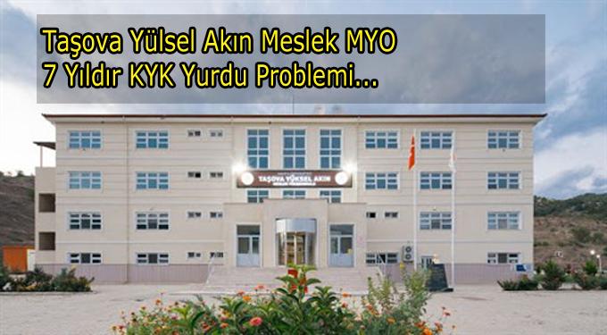 Yüksel Akın MYO okulumuzun KYK Problemi devam ediyor...