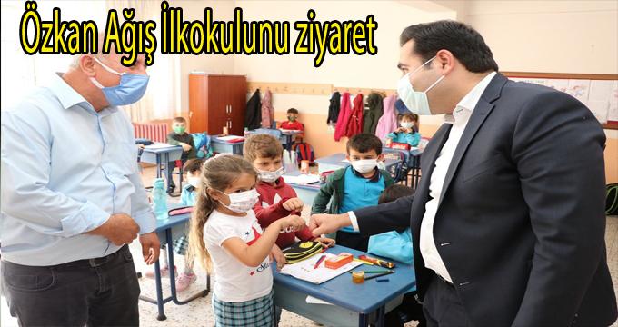Özkan Ağış İlkokulunu ziyaret