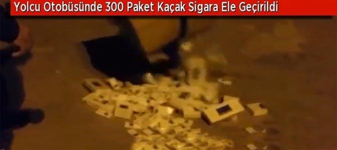 300 Paket Kaçak Sigara Ele Geçirildi..!