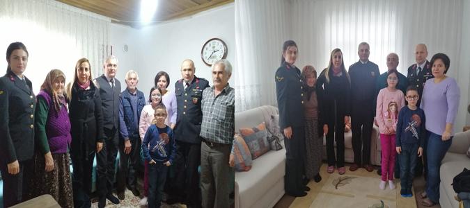 Albay YILDIZ ve Eşi Çambükü ve Tekke Köylerinde ki Şehit Ailelerini Ziyaret Etti
