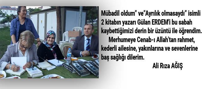 Ali Rıza Ağış - Gülcan ERDEM Taziye mesajı
