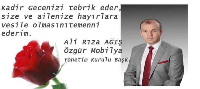 ALİ RIZA AĞIŞ - KADİR GECESİ KUTLAMASI