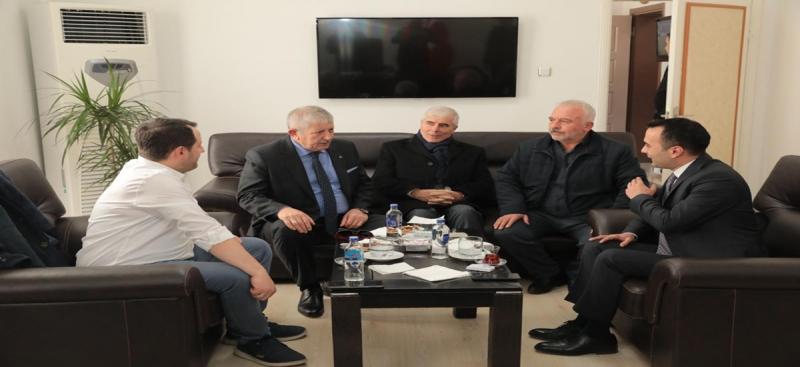 Amasya Belediye Başkanı Sarı'dan,Kaymakam Çelik'e Ziyaret