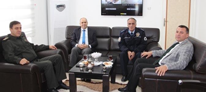 Amasya İl Emniyet Müdürü Artunay Taşova'da Veda Ziyaretinde Bulundu