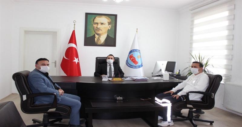 Amasya İl Sağlık Müdürü Nergiz'den, Kaymakam Çelik'e Ziyaret