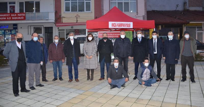 Amasya ve Taşova Dernekleri Siyanüre Hayır İmza Standını Ziyaret Etti
