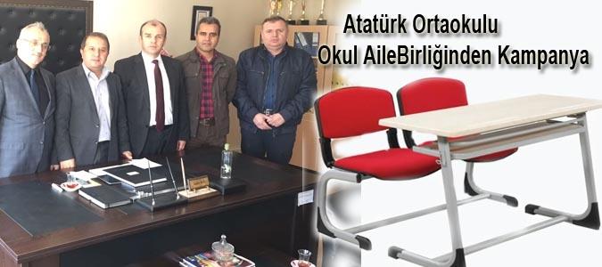 ATATÜRK ORTAOKULU VE OKUL AİLE BİRLİĞİ ORTAK KAMPANYA BAŞLATTI..
