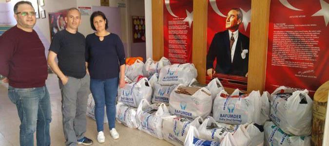 BAFUMDER'den Taşova ve Doğubeyazıt'a eğitim desteği