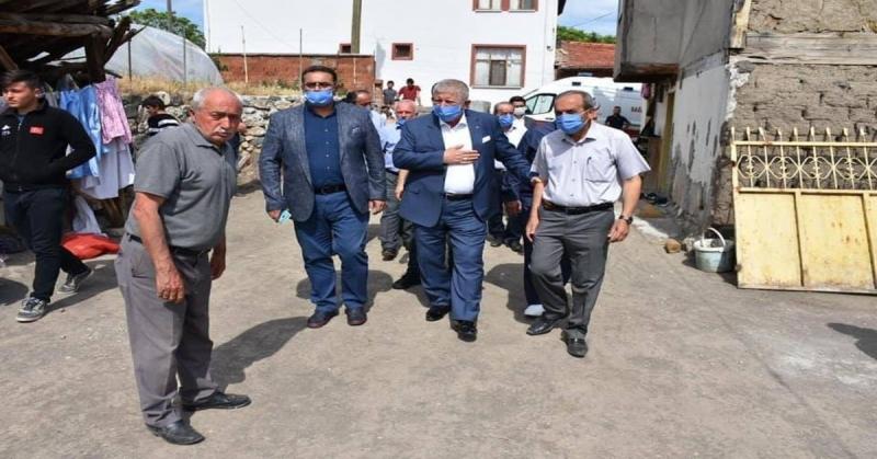 Başkan Sarı, Andıran Köyü Muhtarı Mehmet Nazlı'nın Misafiri Oldu