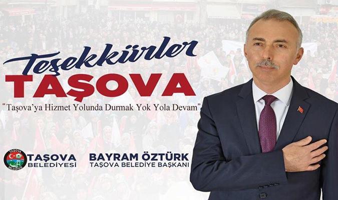 Belediye Başkanı Bayram Öztürk'ten Teşekkür Mesajı