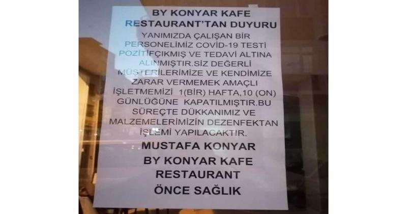 By Konyar Kafe Restoran işletmecisi Mustafa Konyar'dan Açıklama