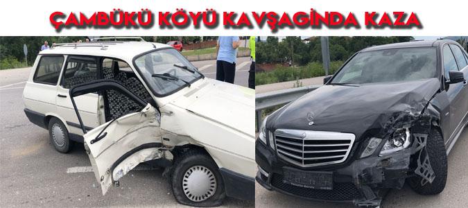Çambükü Köyü Kavşağında Kaza