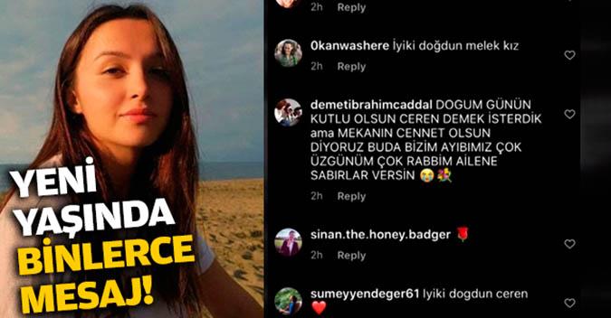 Ceren Özdemir'e 21. yaş gününde mesaj yağdı