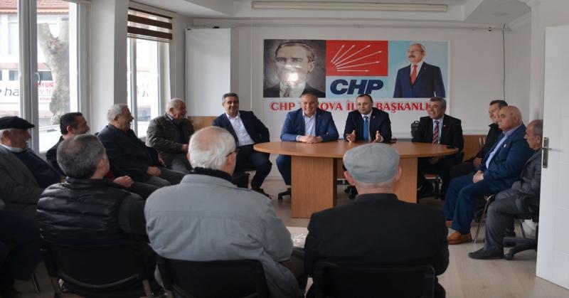CHP Amasya İl ve Merkez İlçe Başkanları'ndan, CHP Taşova İlçe Başkanlığına Ziyaret