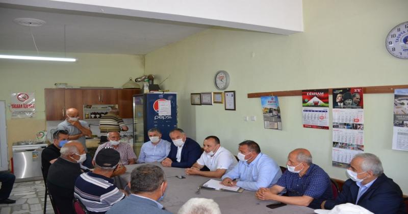 CHP Amasya Milletvekili Tuncer, Destek Köyünde Doludan Zarar Gören Köylüleri Ziyaret Etti
