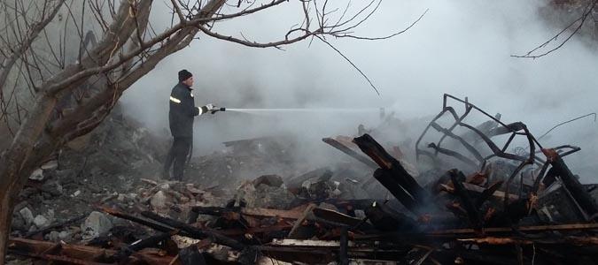 Destek Köyün'de Yangın