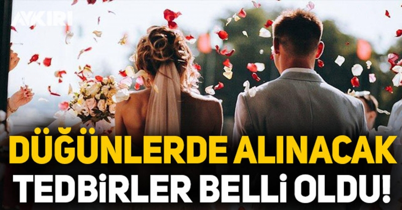 Düğün Törenlerinde Uygulanacak Tedbirler