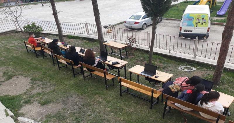 EBA Mobil Destek Aracı Destek Köyünde