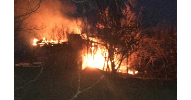 Elmakırı Köyünde Ev Yangını