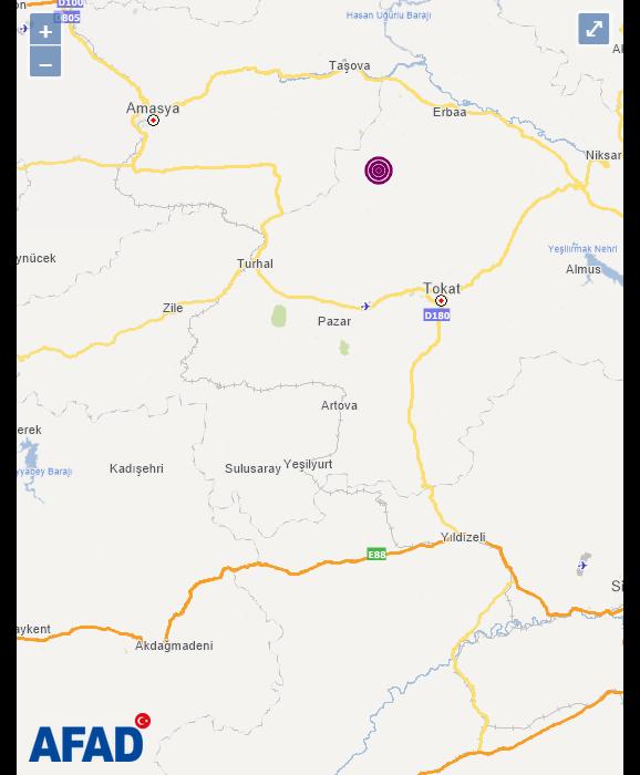 Erbaa'da korkutan deprem