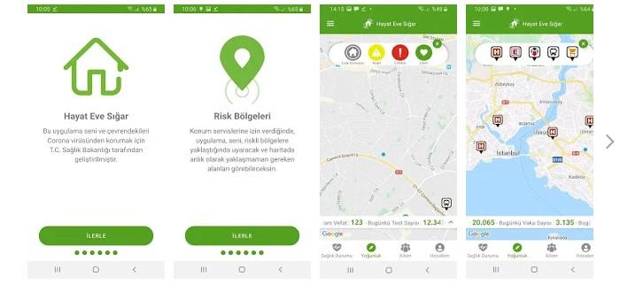 'Hayat Eve Sığar' Uygulaması, Koronavirüs Risk Haritanızı Gösteriyor