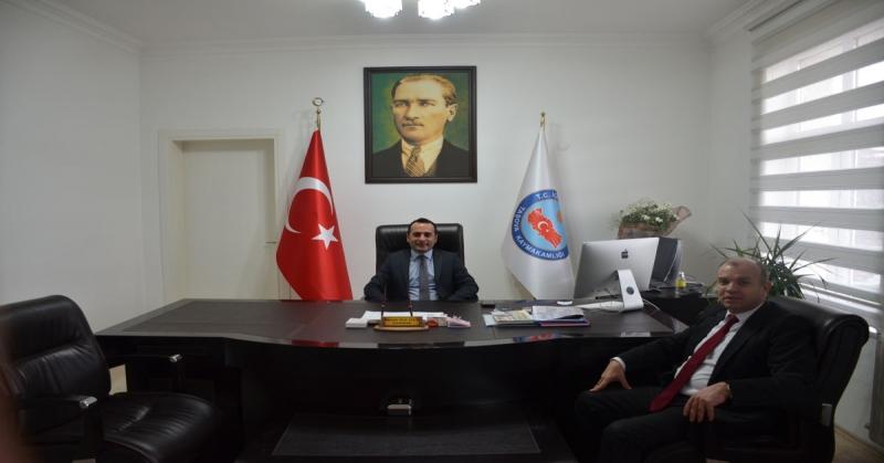 İş Adamı Ali Rıza Ağış'tan Kaymakam Çelik'e Ziyaret