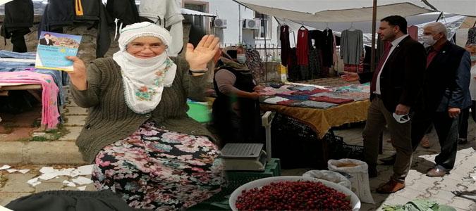 İYİ Parti İl ve Kadın Kolları yönetimi Halk Pazarı Esnafını Ziyaret Etti