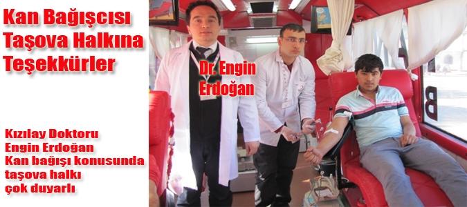 Kan Bağışcısı Taşova Halkına Teşekkürler