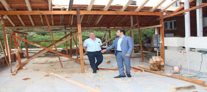 Kaymakam Altuntaş Boraboy ve Taşova Spor Salonunda İncelemelerde Bulundu