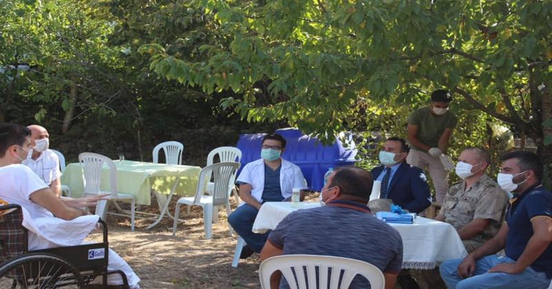Kaymakam Çelik, Gazi Burak Can Ünay'ı Ziyaret Etti