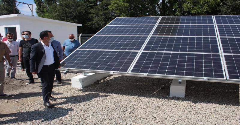 Kaymakam Çelik Güneş Enerji Tesisini Yerinde İnceledi