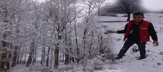 Kış Mevsimi İlçemiz 'de Kendini Gösterdi