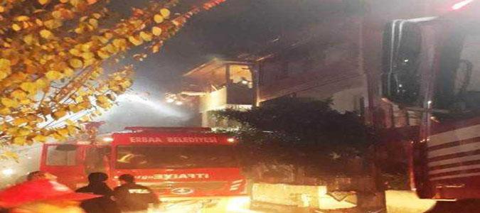Komşu İlçe Erbaa'da Yangın