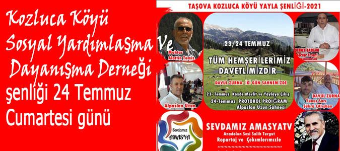 Kozluca Köyü Derneğinin Yayla Şenliği 24 Temmuz 'da