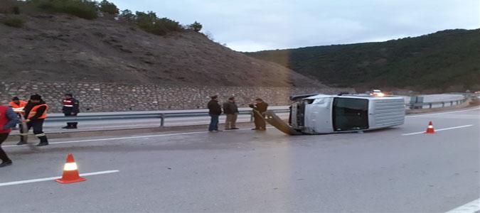 Ladik Kavşağı'nda Maddi Hasarlı Trafik Kazası