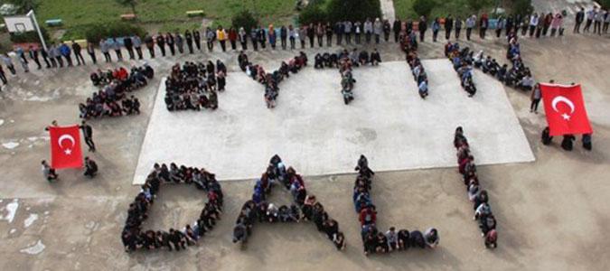 Lise Öğrencilerinden Zeytin Dalı Harekatına Destek
