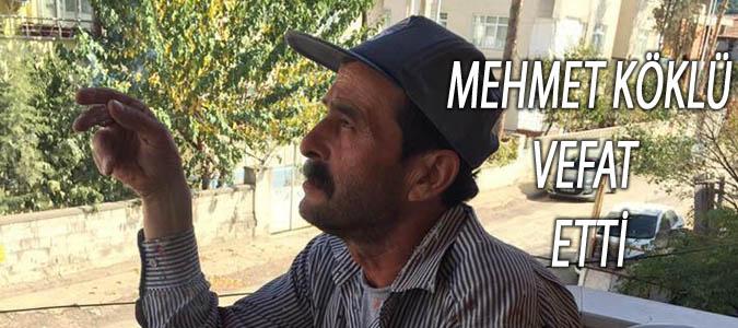Mehmet Köklü vefat etti