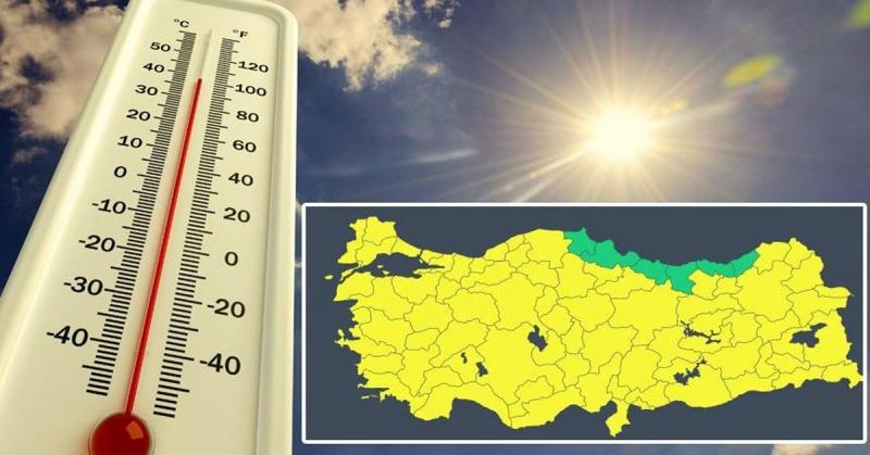 Meteoroloji'den 74 İl için 'Sarı Uyarı'