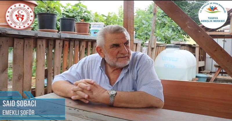 'Ne Mazi Ne Ati' Projesinin 9. Konuğu Emekli Şoför Said Sobacı Oldu