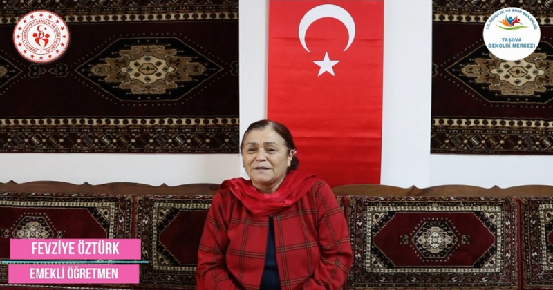 'Ne Mazi Ne Ati' Projesinin 25. Konuğu Emekli Öğretmen Fevziye Öztürk Oldu